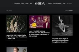 Image of the ticketing service created for Cafe Coda by Madison Music Experience.