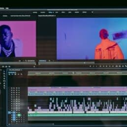 Video editing software displaying a project timeline.